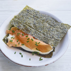 Seaweed smoked salmon square 300x300